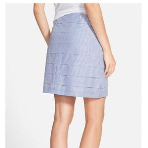 Vineyard Vines Stripe Pleated Poplin Skirt